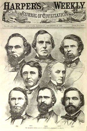 Digital history this illustration from the december 22 1860 edition of harpers weekly shows the seceding south carolina congressional delegation publicscrutiny Gallery