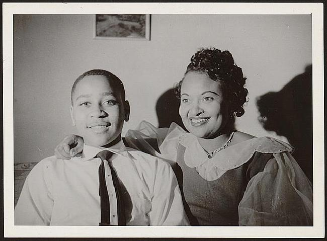 Emmett Till and his Mother