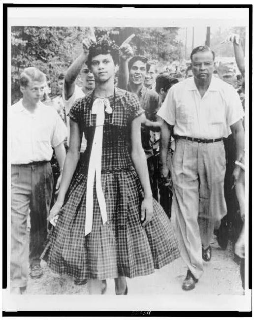 School Dilemma--Youths taunt Dorothy Geraldine Counts in Charlotte, North Carolina