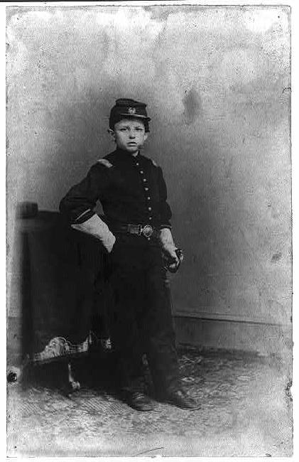 Tad Lincoln, son of President Abraham Lincoln, in a Union uniform