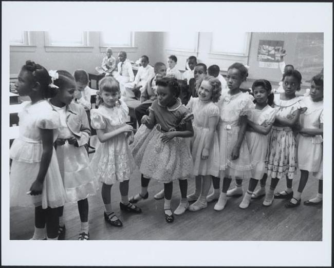 School integration, Barnard School, Washington, D.C., 1955.
