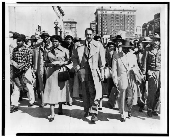 Autherine Lucy's Attorneys: Thurgood Marshall and Arthur Shores