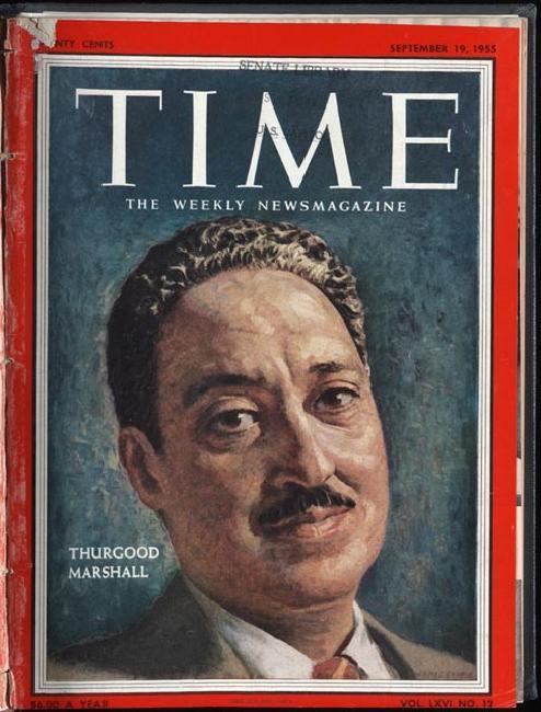 Thurgood Marshall: Time magazine,September 19, 1955.