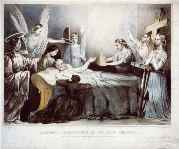 Allegorical Representation of the Dying Christian