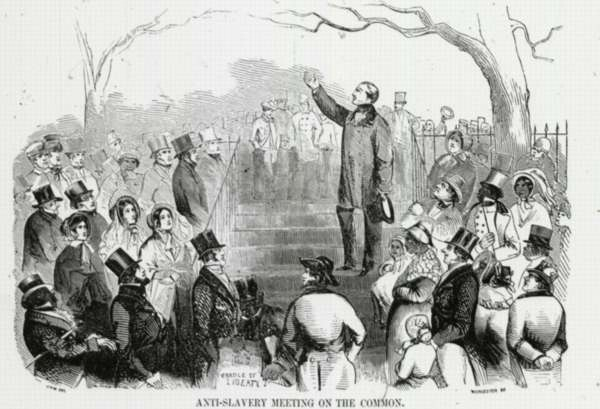 Anti-Slavery Meeting On the Boston Common From Gleason's Pictorial