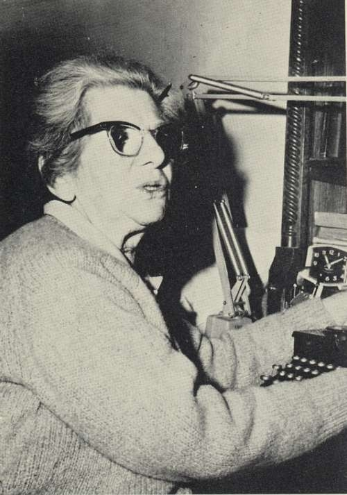 Anzia Yezierska at a Typewriter