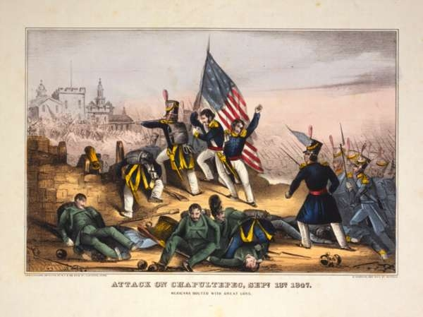 Attack On Chapultepec, Sept. 13th 1847 - Mexicans Routed With Great Loss