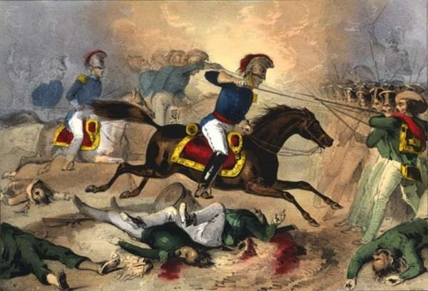 Gallant Charge of the Kentuckians at the Battle of Buena Vista, Feby. 23rd 1847, and Complete Defeat of the Mexicans