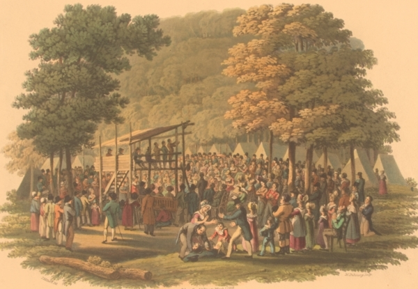 Camp Meeting of the Methodists in North America