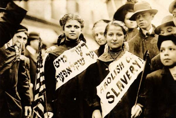 Protest Against Child Labor in a Labor Parade