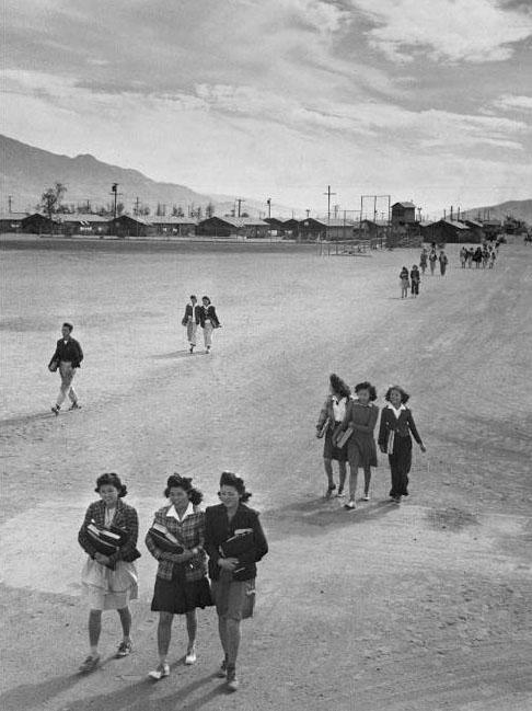 School children, Manzanar Relocation Center, California