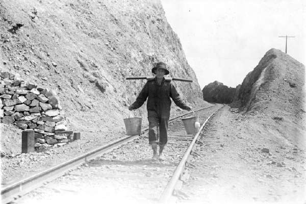 Chinese Man Carrying Buckets (Utah)