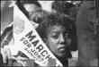 Civil Rights March On Washington, D.C. (A Young Woman at the March With A Banner)