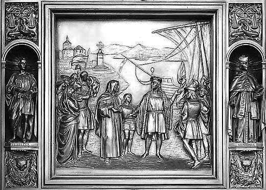 Departure of Columbus From Palos, 1492