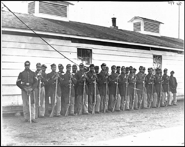 District of Columbia, Co. E, 4Th U.S. Colored infantry, at Fort Lincoln