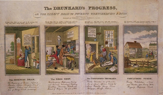 The Drunkard's Progress, Or the Direct Road to Poverty, Wretchedness & Ruin
