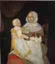 Elizabeth Clarke Freake (Mrs. John Freake) and Baby Mary