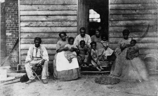 Family of Slaves at the Gaines' House