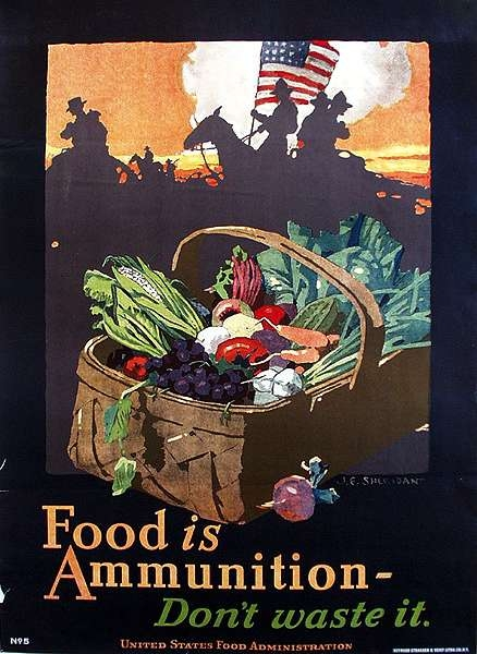 WW I Posters: Food Is Ammunition
