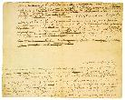 Fragment of the First Draft of the Declaration of Independence