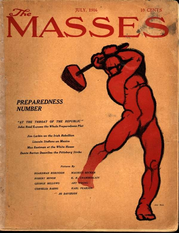Front Cover of the Masses, July 1916