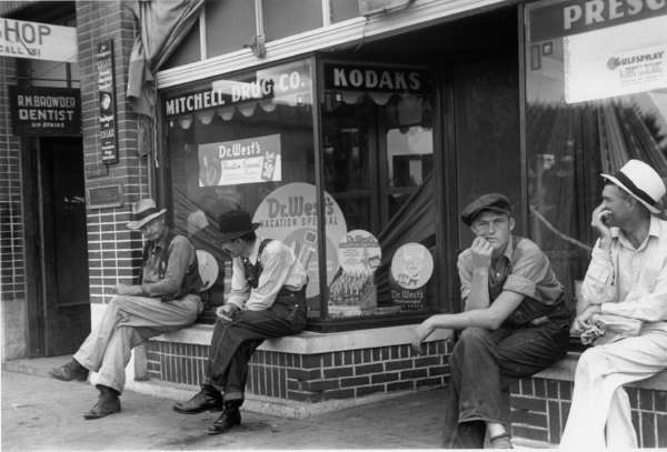 Men Loafing in Crossville, Tennessee