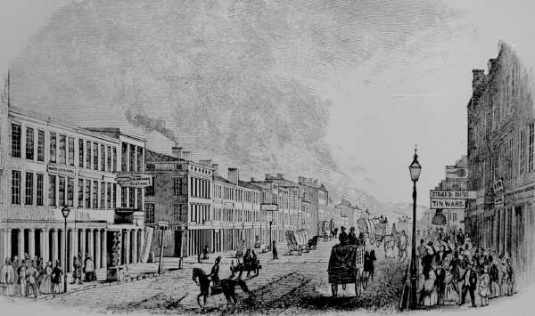 View of Main Street, Louisville, in 1846