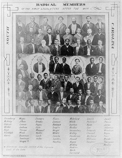 Radical Members of the First Legislature After the War, South Carolina