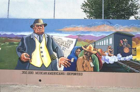 350,000 Mexican Americans Deported - Segment From the Great Wall of Los Angeles