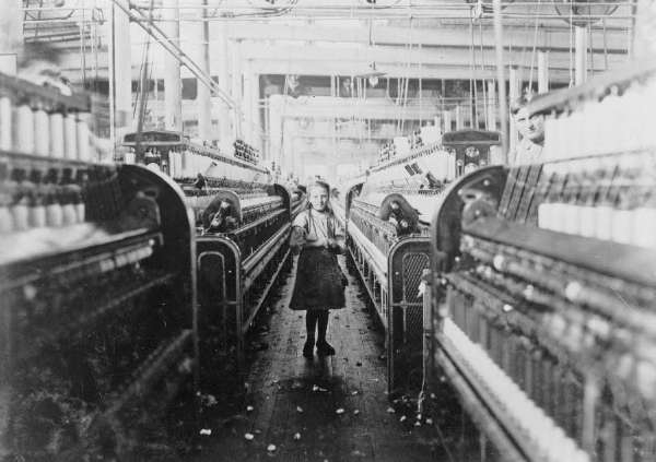 A Small Girl, Full Length Portrait, Standing, Facing Front, Working in Mollahan Mills, Newberry, South Carolina