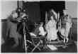 Margaret Gorman (Miss America 1921), and Stephen(?) Fegan Being Filmed For A Burlesque On the Burning of Rome By the Washington Producing Company