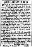 Runaway Notice for Harriet Jacobs; Copy from the American Beacon July 4th, 1835