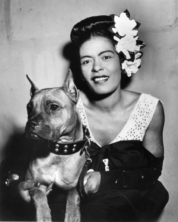 Portrait of Billie Holiday and Mister Downbeat, New York, N.Y.