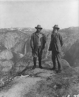 President Theodore Roosevelt and John Muir at Yosemite National Park
