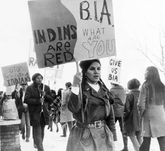 Protest Against the Bureau of Indian Affairs (BIA)