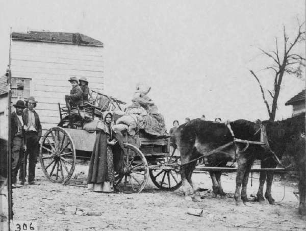 Refugees Leaving the Old Homestead