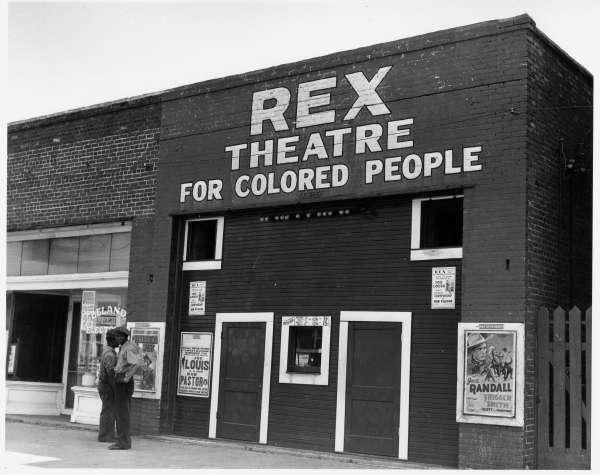 Rex Theatre for Colored People.  Leland Mississippi Delta