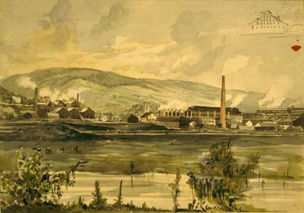 River View With Factory