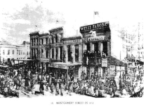 Montgomery Street, San Francisco, 1852