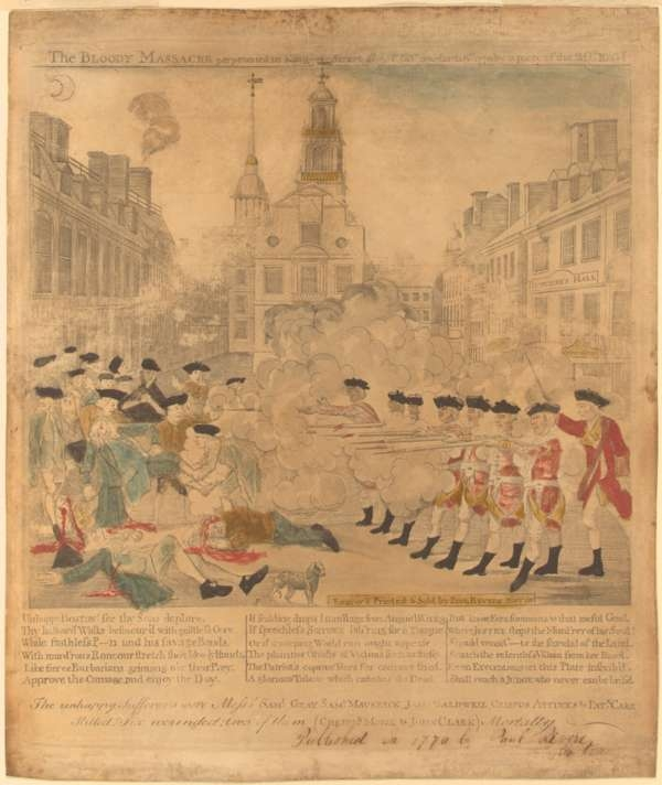 The Bloody Massacre Perpetrated in Kings Street Boston On March 5Th 1770 By a Party of the 29Th Regiment
