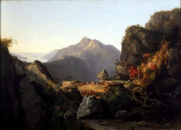 Landscape Scene From the Last of the Mohicans; The Death of Cora