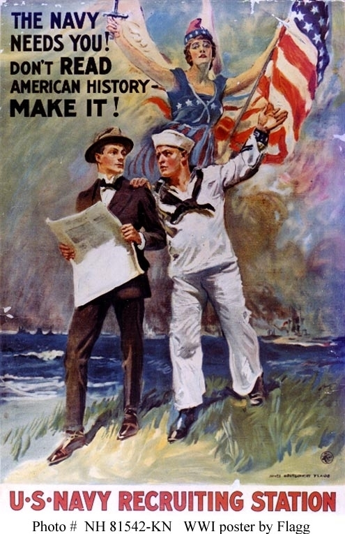 The Navy Needs You ! Don't Read American History