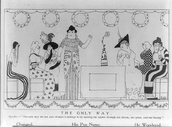 The Only Way Speaker - the Only Way We Can Gain Women's Suffrage Is By Making Our Appeal Through Our Charm, Our Grace, and Our Beauty