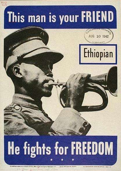 WW II Posters: This Man Is Your Friend--Ethiopian