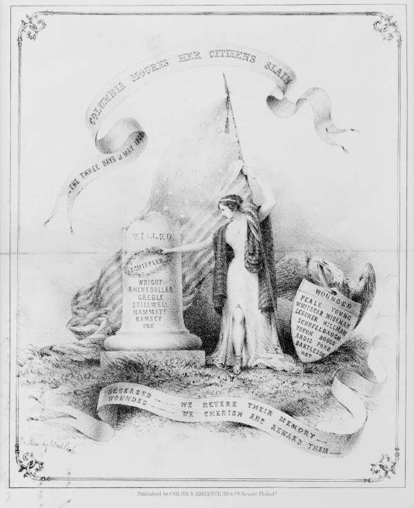 Three Days of May 1844, Columbia Mourns Her Citizens Slain