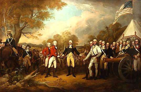 The Surrender of General Burgoyne at Saratoga October 1777