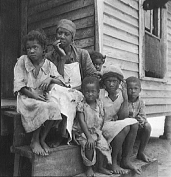 Turpentine Worker's Family Near Cordele, Alabama