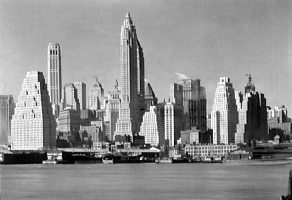 New York City Views. Lower New York From Foot of Brooklyn Bridge