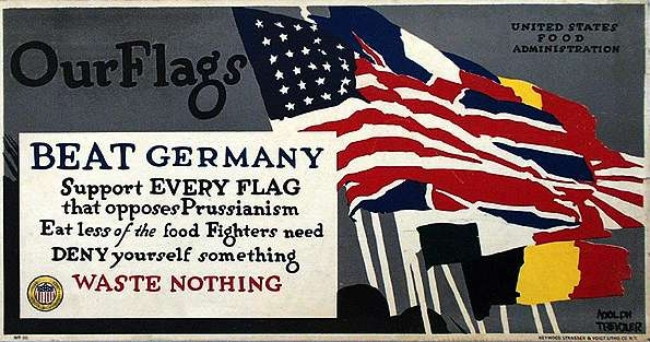 WW I Posters: Deny Yourself Something, Waste Nothing