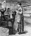 Woman Working in Textile Mill
